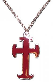 Trinity Blood Necklace - Crusade Style Red Cross