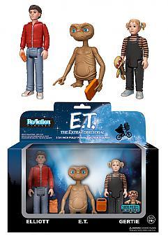 E.T. ReAction 3 3/4'' Retro Action Figure - E.T., Elliott & Gertie Box Set (Set of 3)