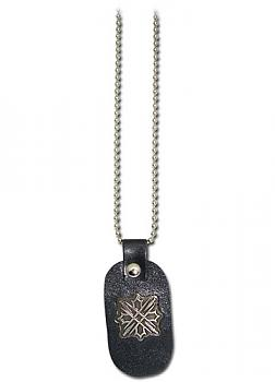 Vampire Knight Necklace - Zeros Tattoo Leather Tag