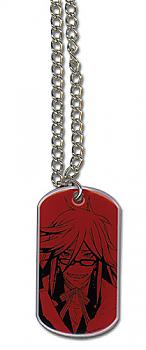 Black Butler Necklace - Grell Dog Tag