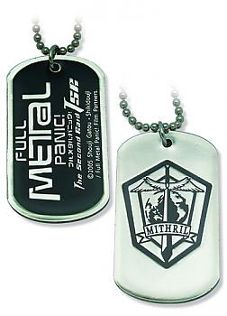 Full Metal Panic! Dog Tag Necklace - Mithril Symbol