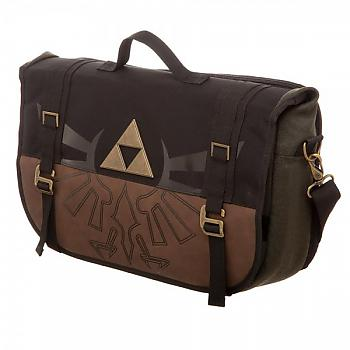 Zelda Messenger Bag - Logo Gold/Green