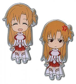 Sword Art Online Pins - Happy/Angry Asuna (Set of 2)