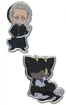Blue Exorcist 1'' Pins - Shiro & Kuro (Set of 2)