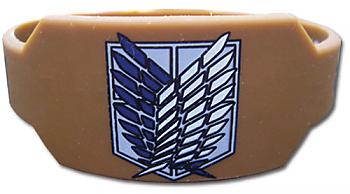 Attack on Titan Wristband - Scout Regiment Brown