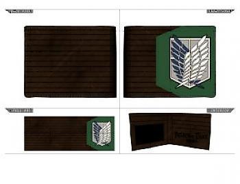 Attack on Titan Bifold wallet - Scouting Regiment PU