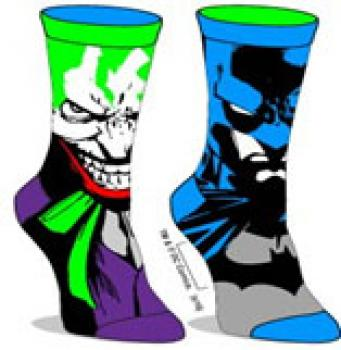 Batman Socks - Batman/Joker Reversible Unisex