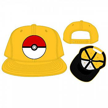 Pokemon Cap - Pokeball Yellow Snapback (Team Instinct)