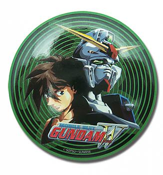 Gundam Wing 3'' Button - Heero and Wing