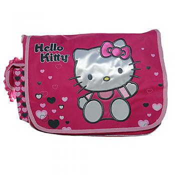 Hello Kitty Messenger Bag - Hearts Pink