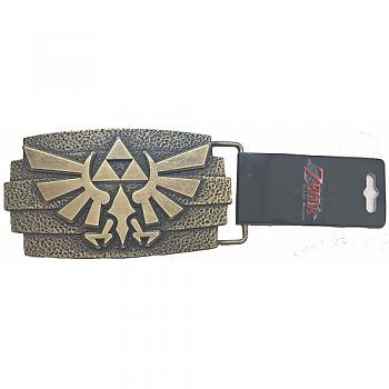 Zelda Belt Buckle - Hammered Multi Level Twilight Princess Gold