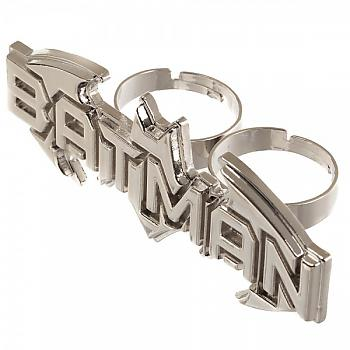Batman Ring - Text Two Finger