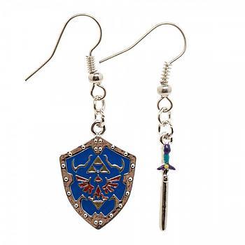 Zelda Earrings - Master Sword & Hylian Shield