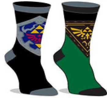 Zelda Socks - Hylian Shield/Twilight Princess Logo Reversible Unisex