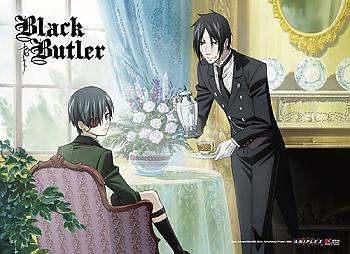 Black Butler Wall Scroll - Sebastian & Ciel Team Time