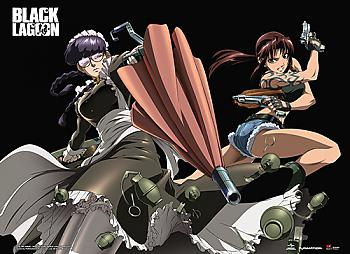 Black Lagoon Wall Scroll - Revy & Roberta