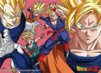 Dragon Ball Z Fabric Poster - Saiyan Group