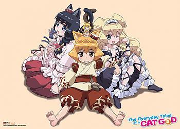 Everyday Tales of a Cat God Wall Scroll - Mayu, Sasna & Meiko