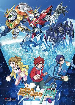 Gundam Build Fightes Try Fabric Poster - Key Art