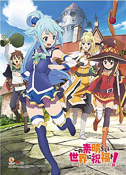 Konosuba Fabric Poster - Key Art 1