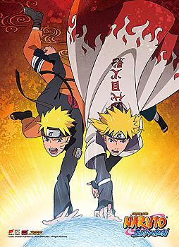 Naruto High End Wall Scroll - Naruto & Minato, Father & Son Rasengan