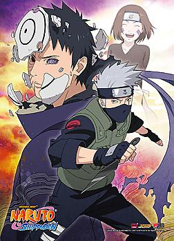 Naruto Wall Scroll - Obito & Kakashi Broken Bonds