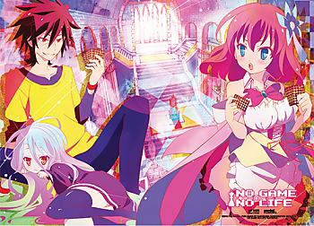 No Game No Life Fabric Poster - Play Cards