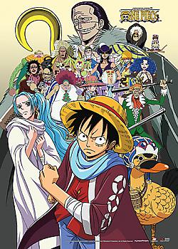 One Piece Wall Scroll - Baroque Works, Vivi & Luffy
