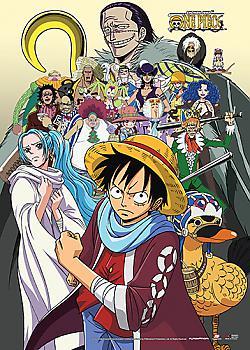 One Piece Wall Scroll - Baroque Works, Vivi & Luffy