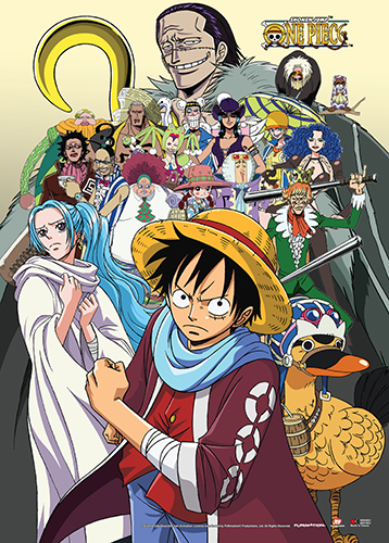 One Piece Wall Scroll Baroque Works Vivi Amp Luffy
