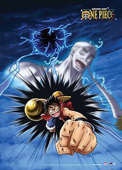 One Piece Wall Scroll - Luffy Gomu Gomu No Ogon Rifle