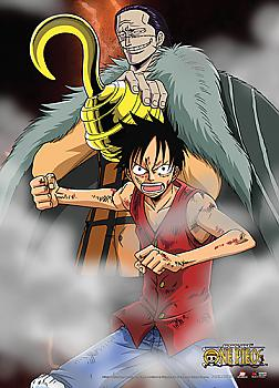 One Piece Wall Scroll - Luffy VS Crocodile