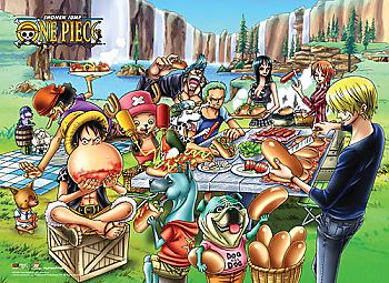 One Piece Wall Scroll - Picnic