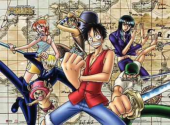One Piece Wall Scroll - Strawhat Pirates Map