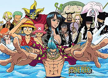 One Piece Wall Scroll - Strawhats & CP9