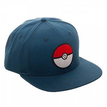 Pokemon Cap - Pokeball Blue Snapback (Team Mystic)