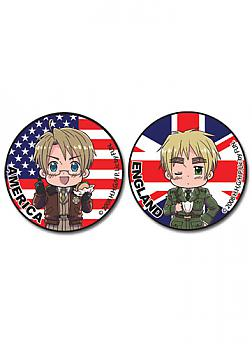 Hetalia Button - America and England (Set of 2)