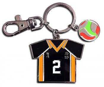 Haikyu!! Key Chain - Number 02 Team Uniform