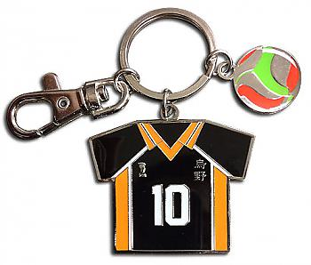 Haikyu!! Key Chain - Number 10 Team Uniform