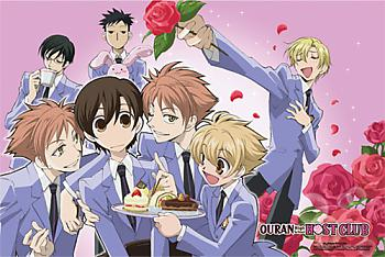 Ouran High School Paper Poster - Flower Group