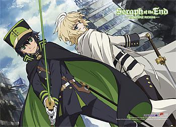 Seraph of the End Wall Scroll - Yuichiro & Mikaela [LONG]