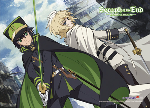 seraph of the end wall scroll yuichiro mikaela long archonia us