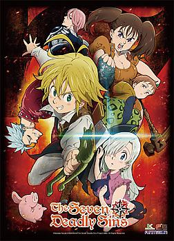 Seven Deadly Sins High-End Wall Scroll - Key Art