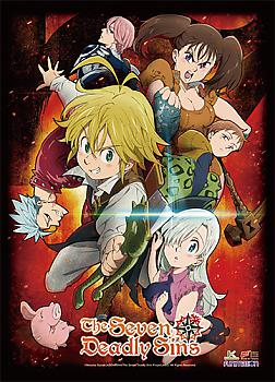 Seven Deadly Sins Wall Scroll - Key Art