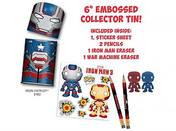 Iron Man 3 Movie: Tin-Tastic Iron Patriot (Pencils/Stickers/Erasers)