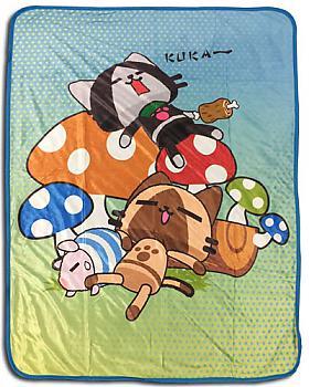 Airou From The Monster Hunter Blanket - Group Mushrooms Sleeping