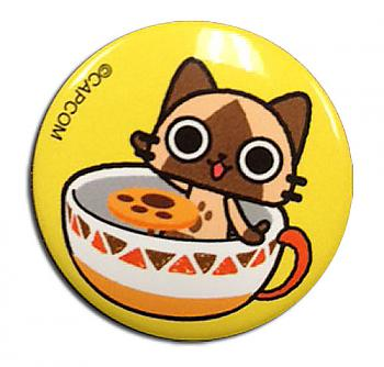Airou From The Monster Hunter 1.25'' Button - Airou Teacup