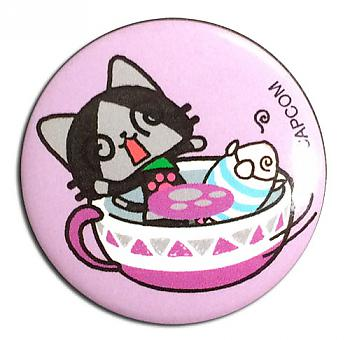 Airou From The Monster Hunter 1.25'' Button - Merarou & Poogie Teacup
