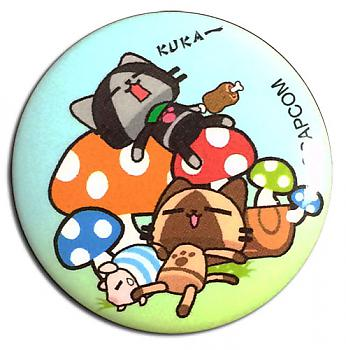 Airou From The Monster Hunter 1.25'' Button - Naptime