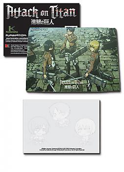Attack on Titan Memo Pad - Mikasa, Eren, Armin
